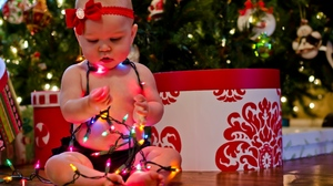Baby Christmas Decoration Ligths 1920x1280 Wallpaper