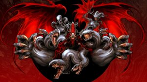 Dracula Castlevania Video Game Art Castlevania Symphony Of The Night Witnesstheabsurd Red Creature 4096x2588 Wallpaper