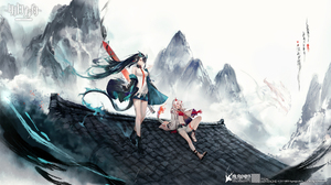 Anime Anime Girls Digital Art Artwork 2D Portrait SanMuYYB Arknights Dusk Arknights Nian Arknights P 1920x1080 Wallpaper