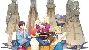 Fate Series Fate Zero Fate Stay Night Saber Shirou Emiya Illyasviel Von Einzbern Irisviel Von Einzbe 1500x1126 Wallpaper