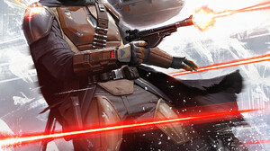 Star Wars The Mandalorian TV Series Science Fiction Blaster Science Fiction Men Artwork Bounty Hunte 1061x1500 Wallpaper
