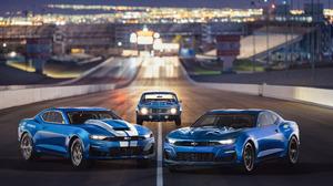 Blue Car Car Chevrolet Camaro Muscle Car Vehicle 2880x1800 wallpaper