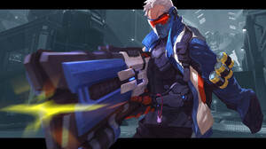 Overwatch Soldat 76 Overwatch Weapon Game Characters Video Game Art PC Gaming Video Games Video Game 1920x1200 Wallpaper