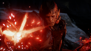 Dragon Age Inquisition Dragon Age Corypheus Fire Red Orange Bad Guys Video Games PC Gaming 2541x1436 Wallpaper