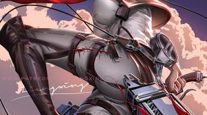 Mikasa Ackerman Shingeki No Kyojin Liang Xing 908x1284 Wallpaper