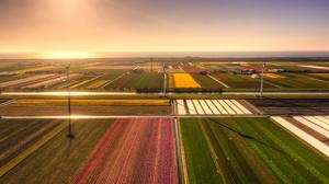 Field Landscape Sunset Photography Nature Outdoors Warm Light 5120x3353 Wallpaper