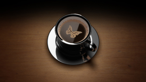 Butterfly Coffee Cup 1920x1200 Wallpaper