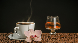 Alcohol Coffee Coffee Beans Cup Glass Still Life 4500x3000 Wallpaper