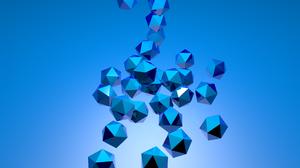 Blue 3d Cgi 2560x1600 Wallpaper