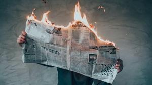 Fire Man Newspaper 2048x1300 wallpaper