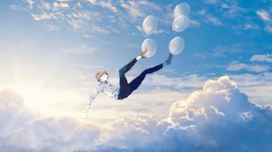 Sky Cloud Balloon 1920x1080 wallpaper