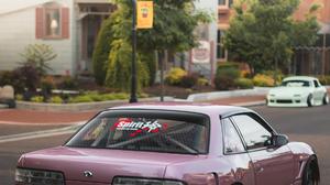 Nissan Silvia S13 Miata Stance JDM 1125x2436 wallpaper