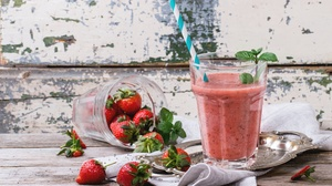 Drink Glass Smoothie Strawberry 5184x3456 Wallpaper