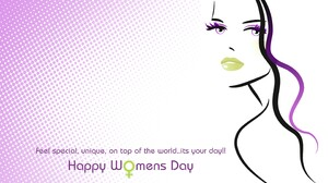 Statement Woman Girl Face Happy Women 039 S Day 2880x1800 Wallpaper