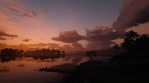 Red Dead Redemption 2 Nature Landscape Sunset Red Sky 1920x1080 Wallpaper