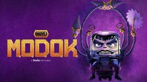 Modok Comic Hulu TV Series Marvel TV Purple Background 1920x1080 Wallpaper
