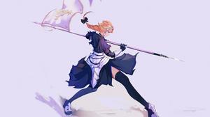 Armor Banner Blonde Blue Eyes Fate Grand Order Flag Girl Jeanne D 039 Arc Fate Series Long Hair Rule 2560x1961 Wallpaper