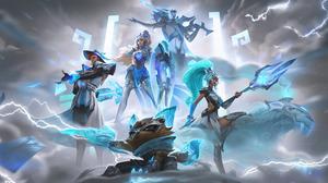 Jhin League Of Legends Jhin Leona Leona League Of Legends Twisted Fate Twisted Fate League Of Legend 7680x4320 wallpaper