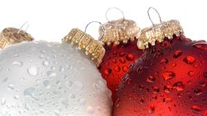 Christmas Ornaments Water Drop Bauble 2880x1920 Wallpaper