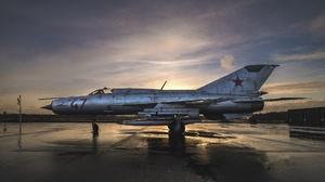 Aircraft Military Aircraft Vehicle Military MiG 21 2000x1125 Wallpaper
