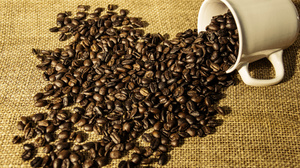 Coffee Beans Cup 2700x1800 Wallpaper