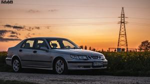Saab Saab 9 5 Car Road Silver Cars 4288x2412 Wallpaper