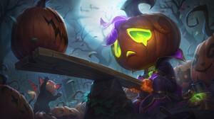 Pumpkin Halloween Amumu Amumu League Of Legends League Of Legends Riot Games 3840x2160 wallpaper