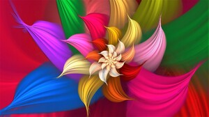 Abstract Colorful Colors Flower 1920x1080 wallpaper