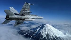 Aircraft Boeing F A 18e F Super Hornet Jet Fighter Volcano Warplane 3840x2160 Wallpaper