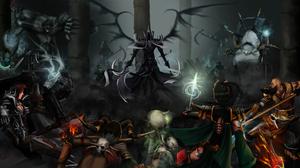 Crusader Diablo Iii Demon Hunter Diablo Iii Diablo Iii Reaper Of Souls Malthael Diablo Iii Monk Diab 3850x2100 Wallpaper