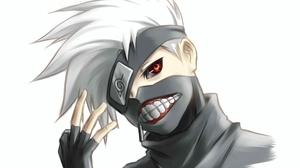 Tokyo Ghoul Naruto Kakashi Hatake Sharingan Naruto 2606x1466 Wallpaper