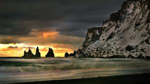 Sky Cloud Rock Beach Wave Cliff Ocean Nature 2048x1367 Wallpaper