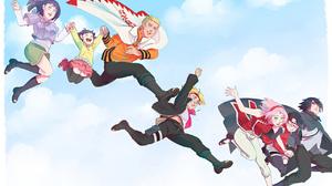 Naruto Naruto Uzumaki Hinata Hy Ga Himawari Uzumaki Boruto Uzumaki Sakura Haruno Sarada Uchiha Sasuk 1280x806 Wallpaper