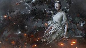 Jiang Geping Women Dagger Rags Chinese Clothing War 1400x907 Wallpaper