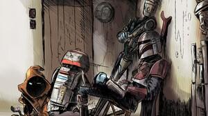 Star Wars The Mandalorian The Mandalorian Character Jawas Robot 1920x1440 Wallpaper