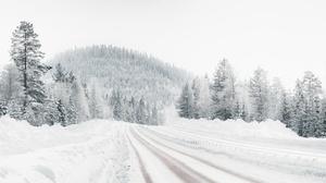 Road Snow 2048x1300 Wallpaper