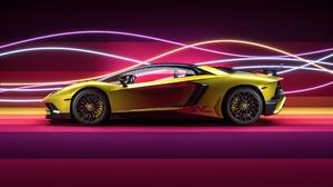 Car Lamborghini Lamborghini Aventador Sport Car Supercar Vehicle Yellow Car 1920x1080 Wallpaper
