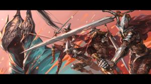 Dark Souls Artorias The Abysswalker Knight Sword Armor Ruukii Drift 2560x1440 Wallpaper