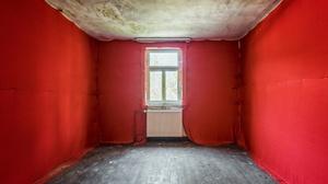 Indoors Room Red Empty Window Radiator 2560x1440 Wallpaper