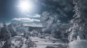 Snow Landscape Nature 3200x2133 Wallpaper