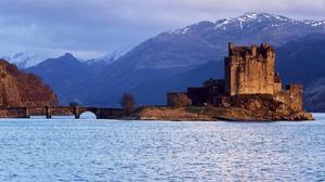 Eilean Donan Castle Scotland Castle Lake Mountain Bridge 2048x1447 Wallpaper
