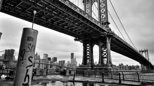 Man Made Manhattan Bridge 1600x857 Wallpaper