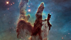 Space Nebula Galaxy Stars Universe Hubble Deep Field Pillars Of Creation Hubble Space Telescope NASA 3183x3320 Wallpaper