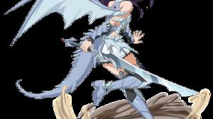 Anime Girls Konno Yuuki Sword Art Online Sword Horns Tail Wings Armor Ponytail Purple Hair Brown Eye 1500x1500 Wallpaper