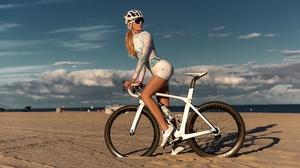 Alex Siracusano Model Women Bicycle Bike Shorts Beach Sport 3840x2160 Wallpaper
