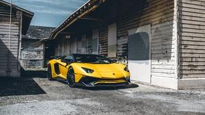 Car Lamborghini Lamborghini Aventador Sport Car Supercar Vehicle Yellow Car 3840x2160 Wallpaper