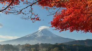 Mount Fuji Japan Fall Volcano Nature 4372x3123 Wallpaper