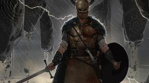 Armor Helmet Shield Sword Viking Warrior 1920x1294 Wallpaper
