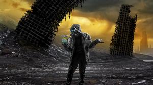 Romantically Apocalyptic Digital Art Apocalyptic Gas Masks Can Ruin 1920x1200 Wallpaper