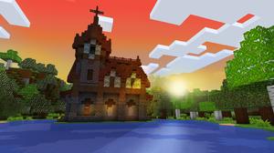 Minecraft Video Game Art Video Game Landscape Pixel Art 3D Graphics 2560x1440 Wallpaper